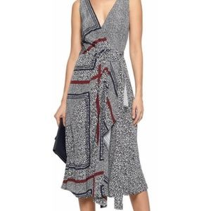 Derek Lam Sleeveless Printed Wrap Dress Size: 2